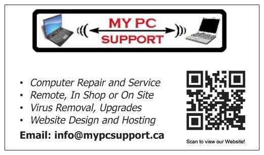 MYPCsupport Business Card Back