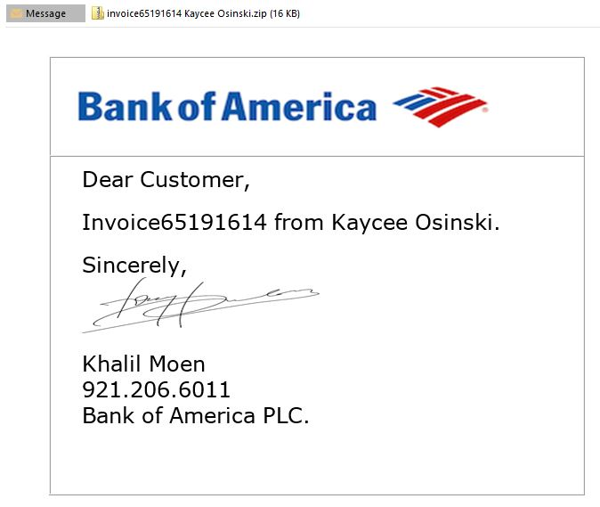 Your bank is calling?? Phishing email